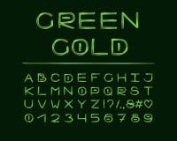Elegantes Design des Alphabetes Luxusfarbart Buchstaben, Zahlen, Interpunktionszeichen Monospaced-Gussvektortypographie Hand geze lizenzfreie abbildung