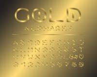 Elegantes Design des Alphabetes Luxusfarbart Englische Buchstaben, Zahlen, Interpunktionszeichen Monospaced-Gussvektortypographie vektor abbildung