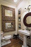 Elegantes einfaches Badezimmer Lizenzfreies Stockbild