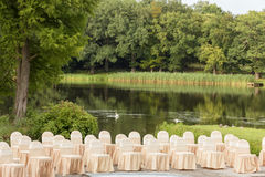 Elegantes Ereignis im Luxusgarten. Stockbilder