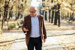 Elegantes Gehen der alten Männer Lizenzfreie Stockbilder