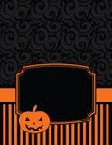 Elegantes gestreiftes Halloween Notecard mit Kopienraum Lizenzfreies Stockfoto