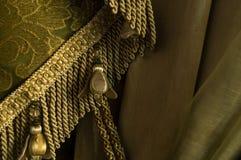 Elegantes Gewebe der Weinlese mit Franse Lizenzfreie Stockfotos