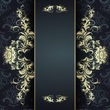 Elegantes goldenes Muster Stockfotos