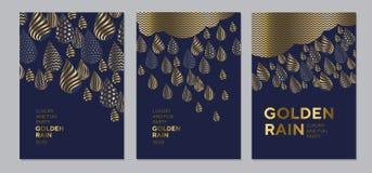 Elegantes goldenes Tropfenluxusmuster Stockbilder