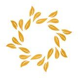 Elegantes Goldstrukturierter Blumenrahmen Lizenzfreie Stockbilder