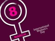 Elegantes Hintergrunddesign für den Tag der internationalen Frauen Stockbild