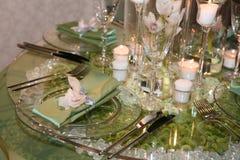 Elegantes Hochzeitsabendessen Stockbild