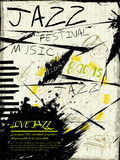 Elegantes Jazzfestivalmusikplakat Lizenzfreies Stockbild