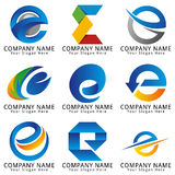 Elegantes Konzept-Logo des Buchstabe-E Lizenzfreies Stockbild