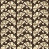 Elegantes nahtloses Muster mit abstrakten Fans lizenzfreie abbildung
