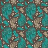 Elegantes nahtloses Muster mit Blumenverzierung Lizenzfreie Stockfotos