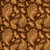 Elegantes nahtloses Muster mit Blumenverzierung Stockbilder