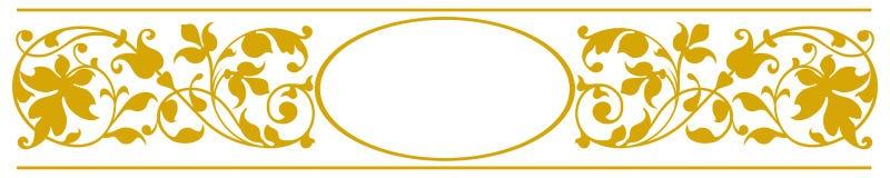 Eleganter ovaler Rahmen Stockfoto