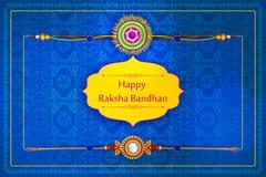 Elegantes Rakhi für Bruder- und Schwesterabbinden in Raksha Bandhan-Festival von Indien vektor abbildung