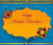 Elegantes Rakhi für Bruder- und Schwesterabbinden in Raksha Bandhan-Festival von Indien lizenzfreie abbildung
