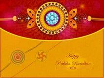 Elegantes Rakhi für Bruder- und Schwesterabbinden in Raksha Bandhan-Festival von Indien stock abbildung