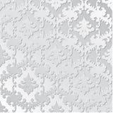 Elegantes Retro- Papiermit Blumennahtloses Hand gezeichnete Weinlesedesignschablone für Fahne, Grußkarte, Hochzeitseinladung Stockbilder