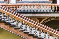 Elegantes Treppenhaus am Staat Iowas-Kapitol Stockbild