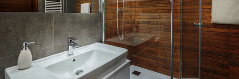 elegantes modernes badezimmer stockfoto - bild: 78145531, Hause ideen
