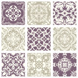 Elegantes violettes nahtloses abstraktes Pastellmuster 30 der klassischen Weinlese Lizenzfreie Stockfotos