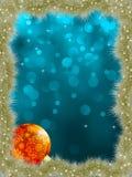Elegantes Weihnachten mit Schneeflocken. ENV 8 Stockbild