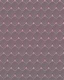 Elegantes wiederholendes Meerjungfrau-Fischschuppe-Muster in Rose Gold Stockfoto
