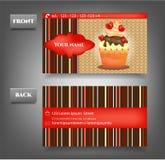 Elegantie, modern adreskaartje - voorzijde, terug met Royalty-vrije Stock Afbeeldingen
