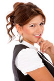 Elegantl woman smiling Stock Photo