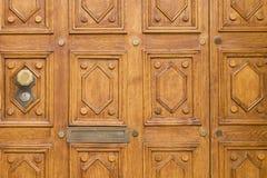 Elegantly_carved_wooden_door-1 Stockbild