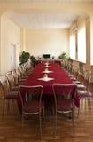 Elegantly designed banquet hall Stock Photos