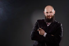 Elegantly dressed bearded man Stock Image