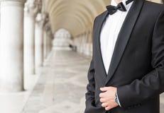 Elegantly dressed man in tuxedo Stock Photography