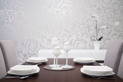 Elegantly prepared table Royalty Free Stock Images