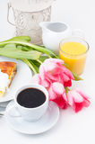 Elegantly served breakfast Stock Photos