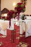 Elegantly stylishly luxuriantly decorated with beautifully flowe Royalty Free Stock Photography