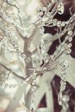 Elegantly tasteful decorated with crystals wedding decorate tree, summer, vintage, glamor.  Royalty Free Stock Photo