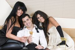 Elegants friends at a a new year party Stock Photo