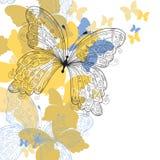 elegantt blom- för bakgrund stock illustrationer