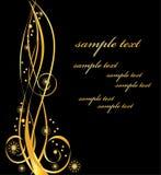 elegantt blom- guld- för bakgrund Royaltyfri Fotografi
