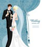 elegantt bröllop stock illustrationer