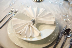 elegantt bröllop för matställe royaltyfria bilder