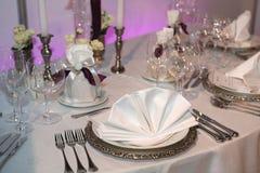 elegantt bröllop för matställe royaltyfri bild