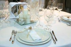 elegantt bröllop för matställe arkivfoto