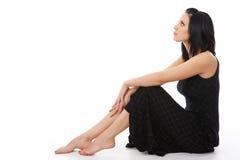 elegantt flickabarn för vuxen härlig klänning royaltyfria bilder