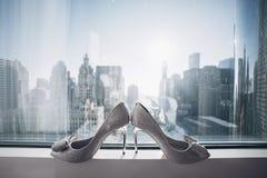 elegantt gifta sig för skor royaltyfria foton