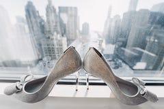 elegantt gifta sig för skor royaltyfri bild