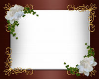 elegantt inbjudanbröllop för kant Arkivfoton