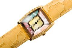 elegantt isolerat armbandsur för lady s Royaltyfri Foto