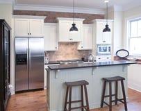 elegantt kök fotografering för bildbyråer